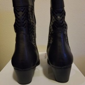 489b137b4cd Style & Co. Dylan Summer Black Cowboy Boots NWT